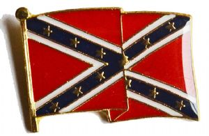 Confederate Waving Flag Badge